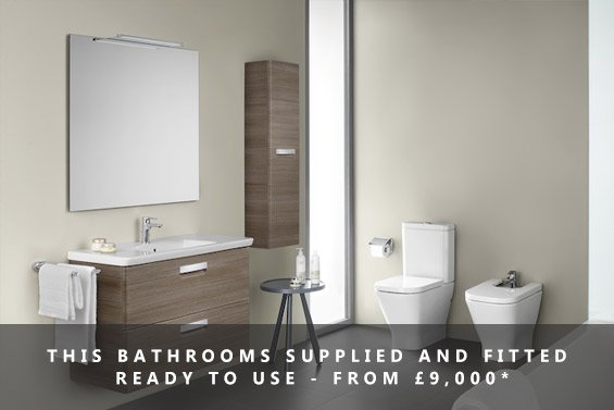 Bathrooms supplied and fitted