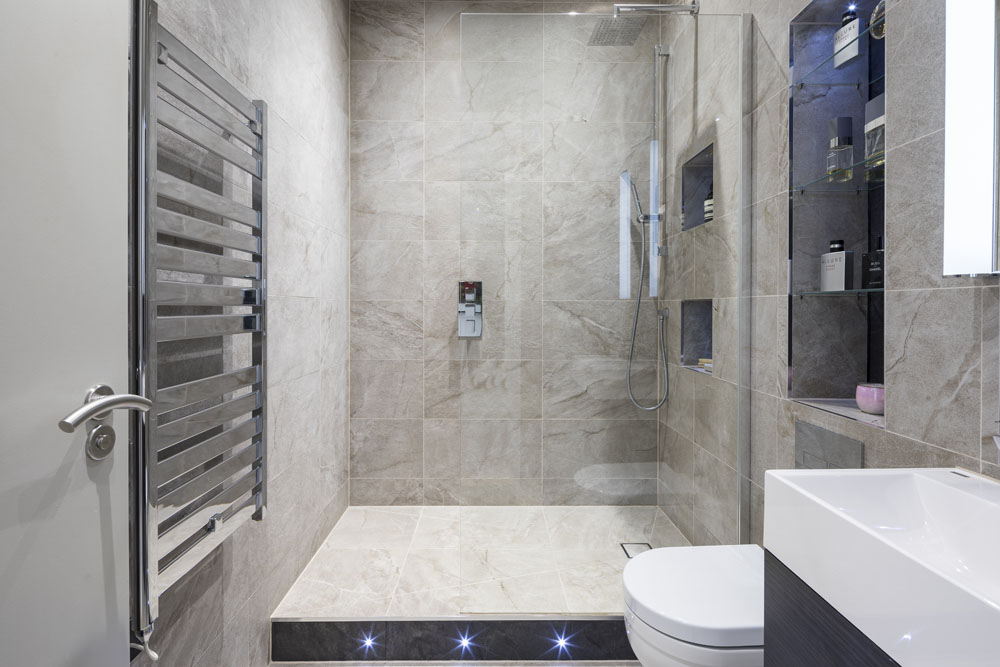 small bathroom design in North London