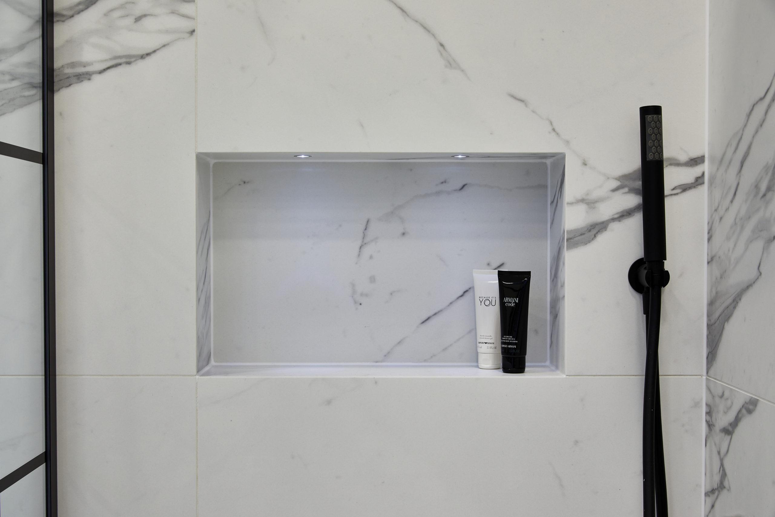 Shower Niche vs. Shelf
