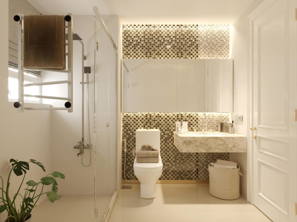 Glowing Integrated Lighting Bathroom