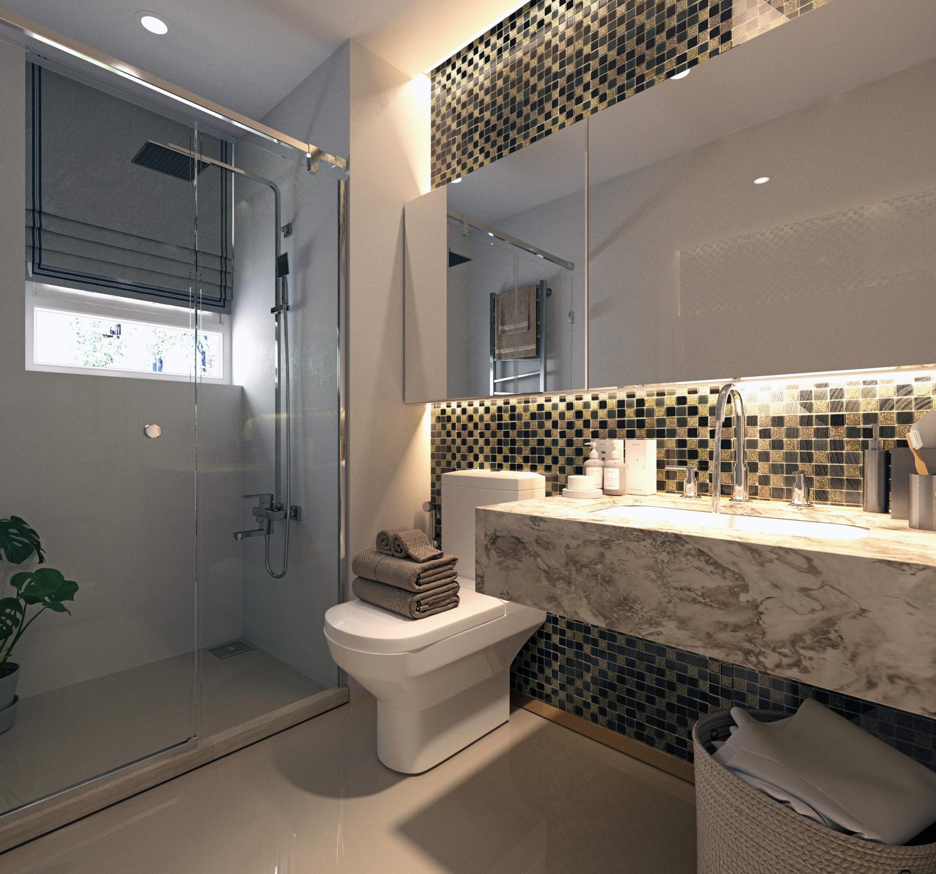 3D Render of Luxury Bathroom